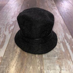 Coach charcoal grey wool bucket hat